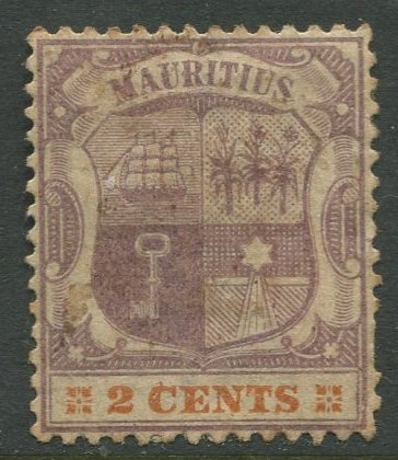STAMP STATION PERTH Mauritius #93 Coat of Arms Definitive Wmk 2 MH CV$9.00