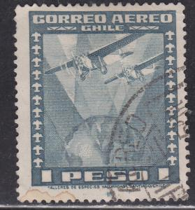 Chile C39 Two Airplanes Over Globe 1934