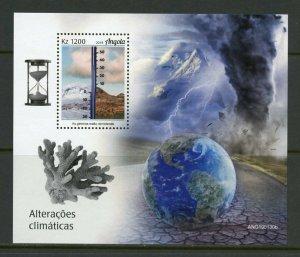 ANGOLA 2019 CLIMATE CHANGE SOUVENIR SHEET MINT NEVER HINGED