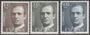 SPAIN 2268-2270, KING JUAN CARLOS, SET OF THREE. MINT, NH. F-VF. (85)