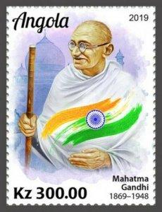 Angola - 2019 Mahatma Gandhi Anniversary - Stamp - ANG190205a