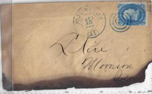 U.S. 92 Used FVF ON COVER (93017a)