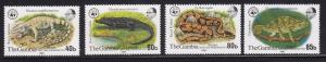 Gambia Scott # 432 - 435 set VF never hinged nice color cv $ 128 ! see pic !