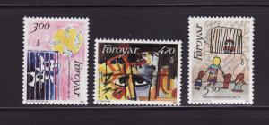 Faroe Islands 145-147 Set MNH Art (B)