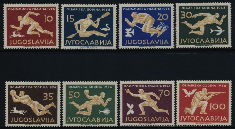 Yugoslavia 461-8 MNH Olympic Games, Athletics, Soccer, Swimming, Skiing