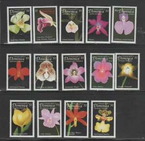 DOMINICA #2121,2225-26a-h  1999  ORCHIDS   MINT  VF NH  O.G