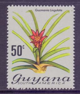 Guyana Scott 143, 1971 Flowers 50c MH*