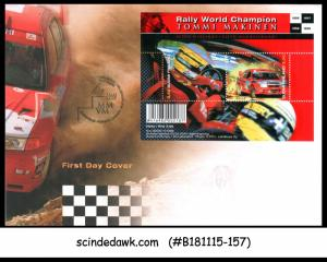 FINLAND - 2000 RALLY WORLD CHAMPIONSHIP / AUTO RACING - MIN/SHT - FDC
