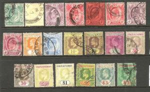 STRAITS SETTLEMENTS 1904-12   KEVII  PART SET  FU
