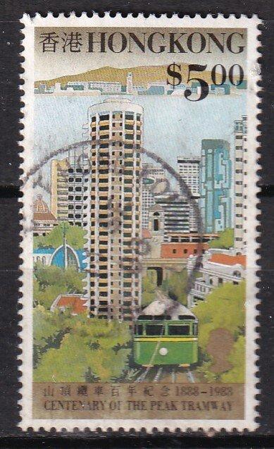 Hong Kong 1988 Sc 530 Peak Tram $5 Used