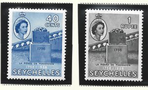 Seychelles Stamps Scott #191 To 192, Mint Lightly Hinged