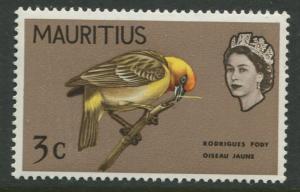 Mauritius - Scott 277 - Birds Definitive Issue -1965 - MNH -Single 3c Stamp