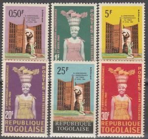 Togo #422-7  MNH F-VF (SU4761)
