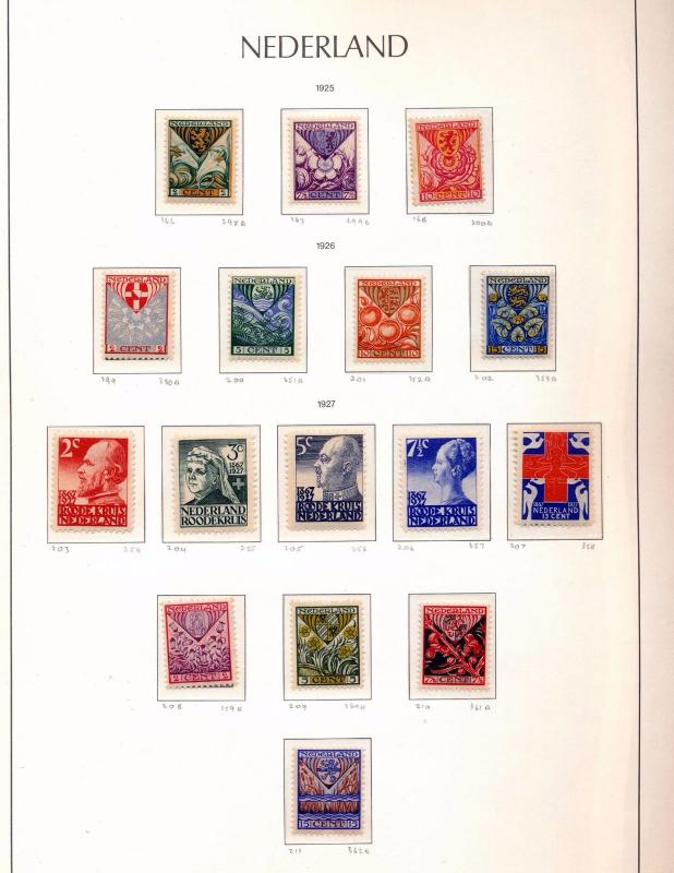Netherlands 1925/28 Red X Sport MH MNH 30 Stamp SG Catalogue 170+Pounds(You 142)