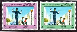 KUWAIT 364-365 MNH SCV $3.25 BIN $1.95 TRAFFIC