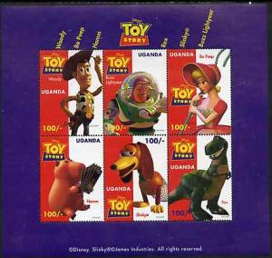 Uganda 1997 Walt Disney's Toy Story unmounted mint sheetl...