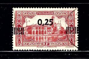 Algeria 122 Used 1938 surcharge