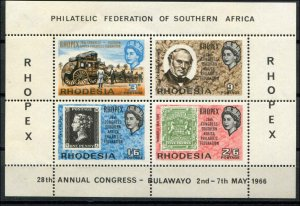 Rhodesia SC# 240a RHOPEX Philatelic Federation of S.A. s/s MNH