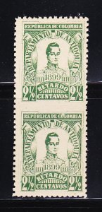 Colombia I1a imperf Pair MNH General Jose Maria Cordoba