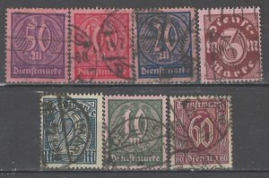 COLLECTION LOT # 3947 GERMANY 7 OFFICIAL STAMPS 1920+ CV+$13