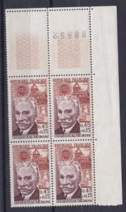 FRANCE  1962    S G  1581   45C  + 15    VALUE  BLOCK OF 4  MNH  NO F59