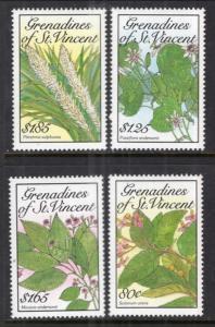 St Vincent Grenadines 671-674 Flowers MNH VF