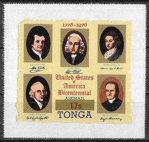 Tonga Overprinted American Bicentennial Die Cut issue of 1976, Scott C233, MNH