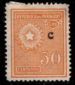 Paraguay Scott L13 interior mail Campana  C rural mail overprint
