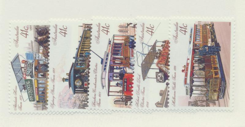 Australia Scott #1154 To 1158, Mint Never Hinged MNH, Street Cars Issue From ...