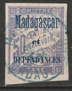 Madagascar 1896 Sc J6 postage due used nice CDS