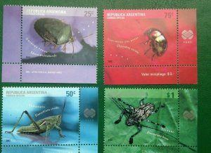 Argentina 2002  insects 4v MNH