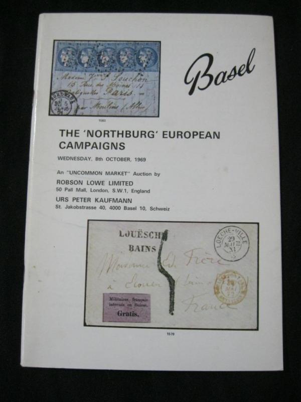 ROBSON LOWE AUCTION CATALOGUE 1969 'NORTHBURG' EUROPEAN CAMPAIGNS