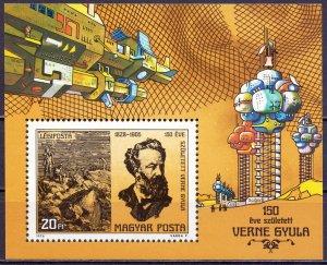 Hungary. 1978. bl133. Jules Verne. MNH.