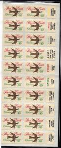 1552 Mint,OG,NH... Plate Block of 20... SCV $4.50
