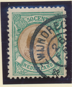 Netherlands Stamp Scott #51, Used - Free U.S. Shipping, Free Worldwide Shippi...