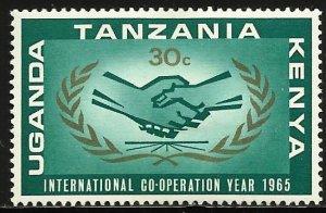 Kenya, Uganda & Tanzania 1965 Scott# 156 MH