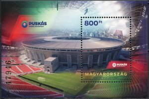Hungary 2020. Puskás Aréna football Stadium (MNH OG) Souvenir Sheet