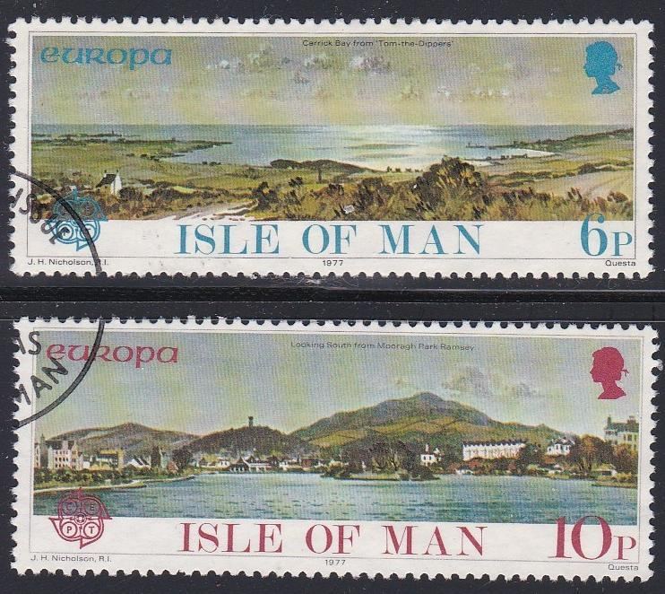 Isle of Man # 99-100, Europa '77, Used Set