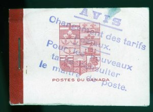 Canada Booklet Unitrade BK5f in French, Red Binding