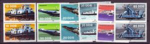 J20556 Jlstamps 1981 germany ddr set pairs mnh #2122-6 ships