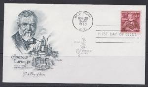 1171 Andrew Carnegie Unaddressed Artmaster FDC