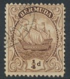 Bermuda  SG 77 SC# 81 Used  Brown  see details and scans