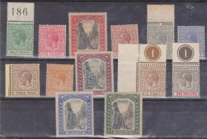 Bahamas - 1921-1934 KGV and Queens Staircase Set of 13 Different to 3 Sh mint
