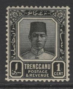 MALAYA TRENGGANU SG26 1926 1c BLACK MTD MINT