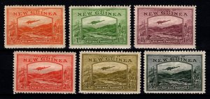 New Guinea 1939 Air Mail Part Set (to 5d excl. 3d) [Unused]