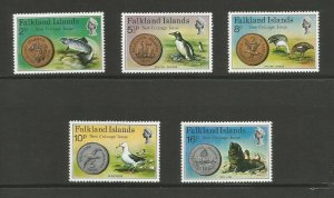 Falkland Islands 1975 New Coinage Unmounted Mint Set SG 316/20
