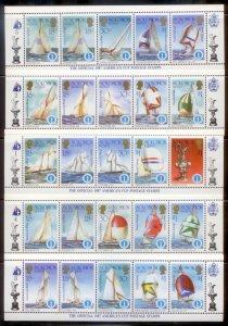 Solomon Islands 1987  SC# 570-4a-j Ships S/S MNH L189