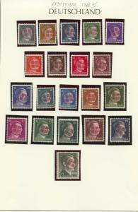 Locals 1945 Lichtenau Type II red overprint, 20 different MNH Hitler overprints