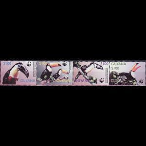 GUYANA 2003 - Scott# 3792 WWF-Toucans Set of 4 NH