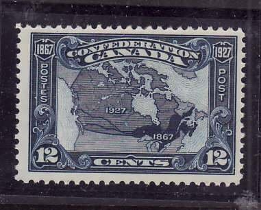 Canada-Sc#145- id5-Unused NH og 12c Map-1927-